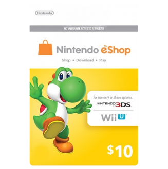 Nintendo Wii U and 3DS Pre-paid Card $10