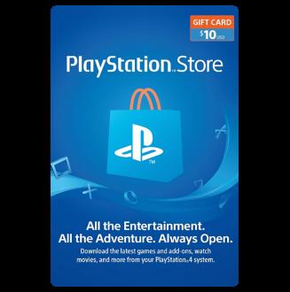 Playstation Network $10.00 Card (US) US Region