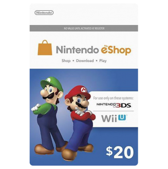 Nintendo Wii U and 3DS Pre-paid Card $20