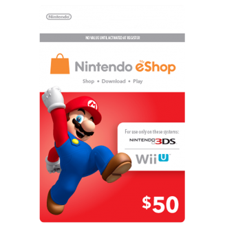 Nintendo Wii U and 3DS Pre-paid Card $50
