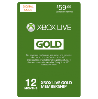 Xbox 360 Live 12 Months Gold Membership